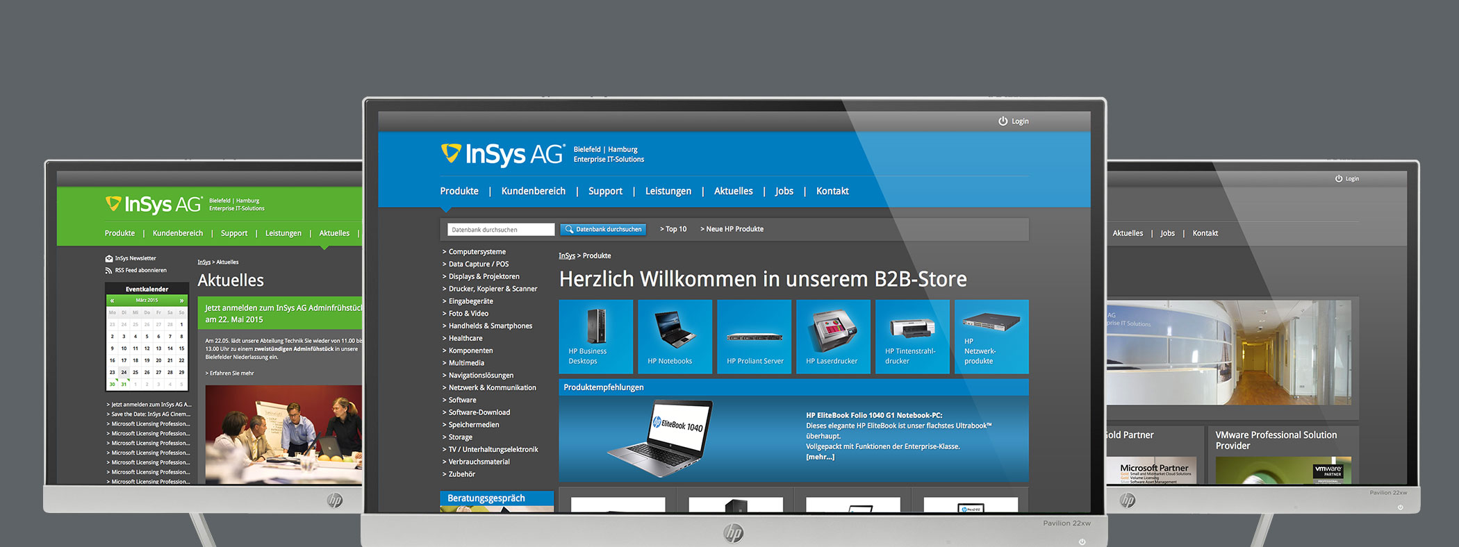 Online-Shop, Unternehmenswebsite & Support-Center in einem: Die InSys Website